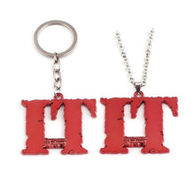 Load image into Gallery viewer, Horror Halloween Stephen King IT Necklace Keychain Vintage Red Pendant Accessories Friend Gift