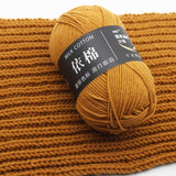Hand-Woven 4 Strands of Milk Cotton Scarf Sweater Crocheted Thick Wool Thread 50g Winter