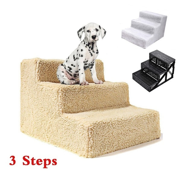 3 Steps Portable Dog Puppy Ladder Doggy Pet Stairs Ramp&Cover