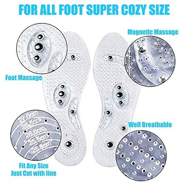 1 Pair/SET Breathable PVC Magnetic Stone Men and Women Fashion Magnetic Insole