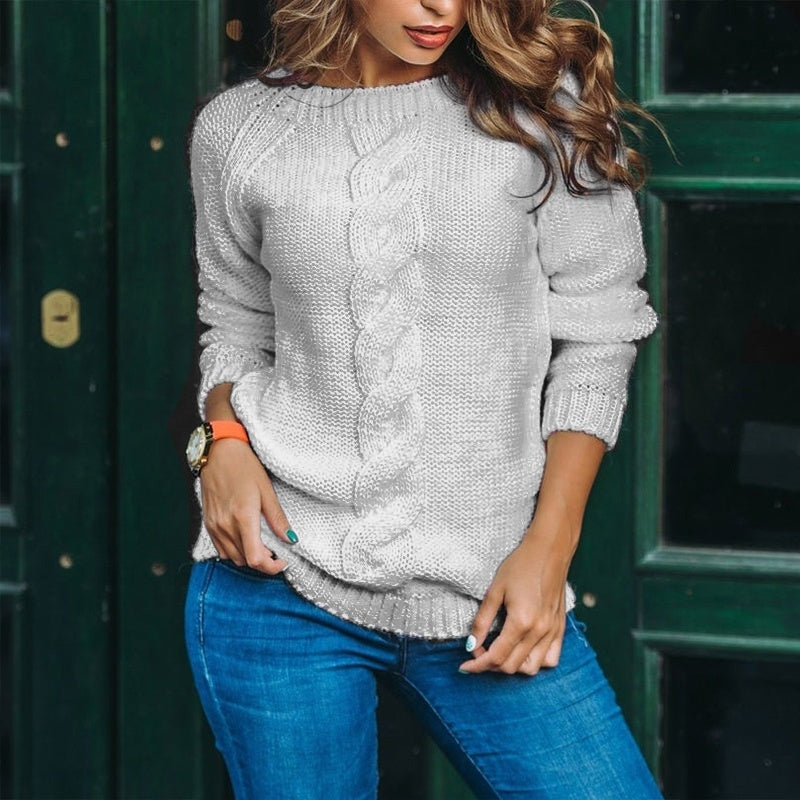 Casual Solid Color Long Sleeve Knitting Tops Sweaters Backless Pullover Ladies Knitwear Blouse Women Autumn Winter Knitted Clothes