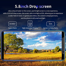 Load image into Gallery viewer, Smartphone with 4GB + 64GB Laege Memory Smartphone with face/fingerprint lock Dual SIM card phone support T card smartphone 8 core