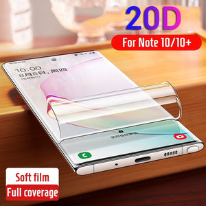 Not Glass Screen Protector for Samsung Galaxy Note 10 Plus Protector Hydrogel Protective Film for Samsung Note 10 Note10 Plus Pro Note 10+ Cover