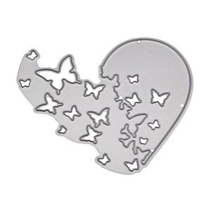 Heart Butterfly Metal Cutting Dies Stencil DIY Scrapbooking Album Stamp Paper Photo Card Embossing Craft Decor