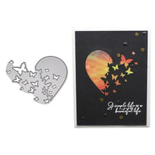 Load image into Gallery viewer, Heart Butterfly Metal Cutting Dies Stencil DIY Scrapbooking Album Stamp Paper Photo Card Embossing Craft Decor