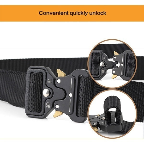 New 3.8cm Breathable Tactical Belt Male Army Fan Tactical Belt Outdoor Training Belt Three-piece