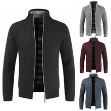 Load image into Gallery viewer, Winter Men's Simple Cardigan Sweater Slim Mens Knit Shirt Jackets