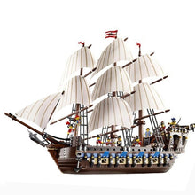 Load image into Gallery viewer, 22001 83038 1717pcs Pirate Ship warships Model Building Kits Block Brik Boy Educational Toys Model Gift 1717pcs Compatible 10210