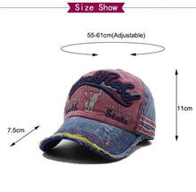 Load image into Gallery viewer, Men Baseball Caps Dad Casquette Snapback Hats Fashion Sport Hat Letter Washed Cotton Cap