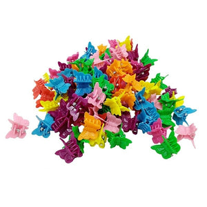 100/50Pcs/20pcs Colorful Girls Hair Clips Kids Child Hair Clips Clamp Girls Hairpins Mini Claw Flower