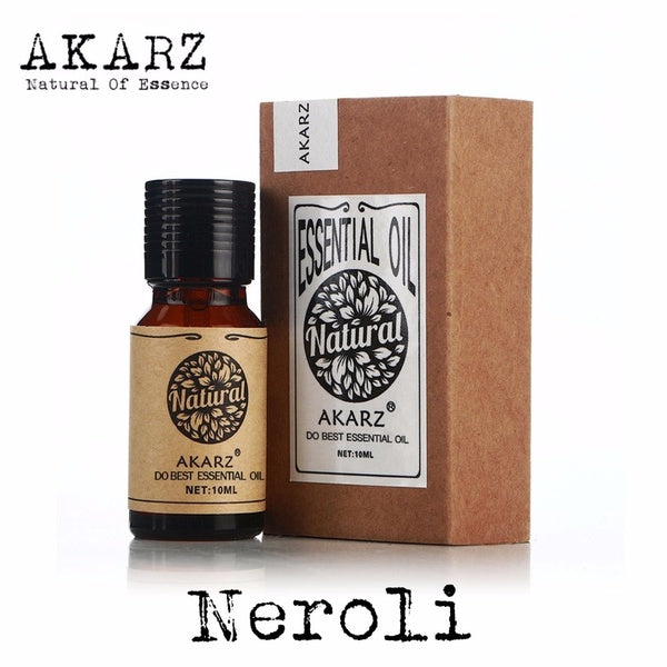AKARZ Famous brand natural Neroli oil Skin whitening moisturizing anti-aging fade color Neroli essential oil