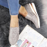 Casual Women's Fashion Wedges Shoes Slip on Loafers Shoes Print Shoes Plus Size
