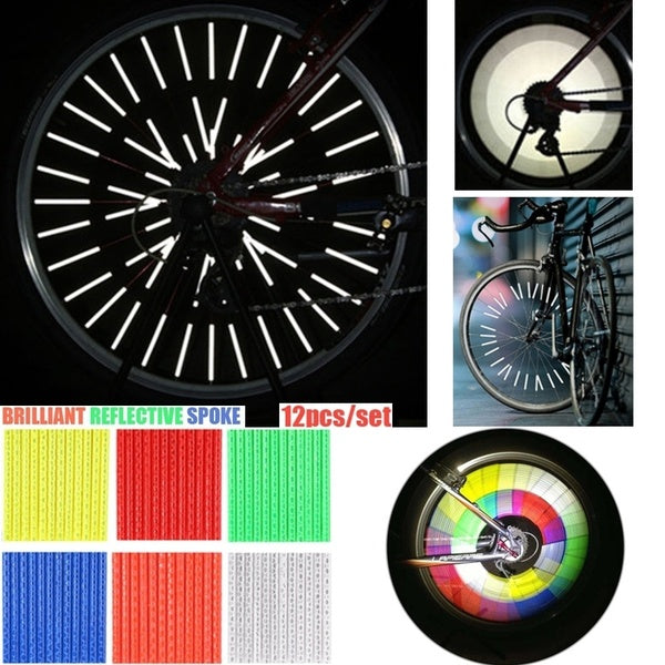 MTB Road Bicycle Safety Warning Strip Outdoor Cycling Bike Wheel Reflector Spoke