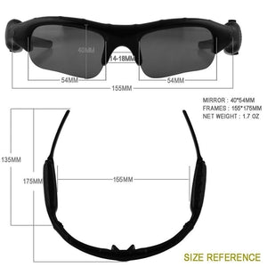 Outdoor Sport Glasses Driving Cycling Sunglasses Mobile Digital MP3 Camera Glasses Mini DV DVR Video Camcorder Eyewear support Micro SD Card [16GB Optional Buy]