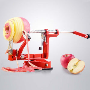 3 in 1 Stainless Steel hand-cranked Fruit Peeler With clipping Apple Potato Peeler Slicer Machine Kitchen Tools Red