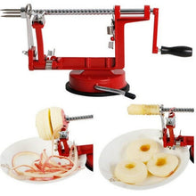 Load image into Gallery viewer, 3 in 1 Stainless Steel hand-cranked Fruit Peeler With clipping Apple Potato Peeler Slicer Machine Kitchen Tools Red