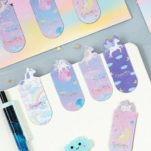 Load image into Gallery viewer, 3 Pcs/pack Unicorn Magnetic Bookmarks Books Marker of Page Student Stationery School Office Supply