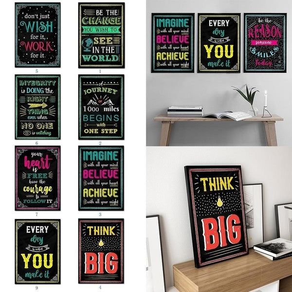 New Inspirational English Letters Print Picture Home Wall Modern Art Decor