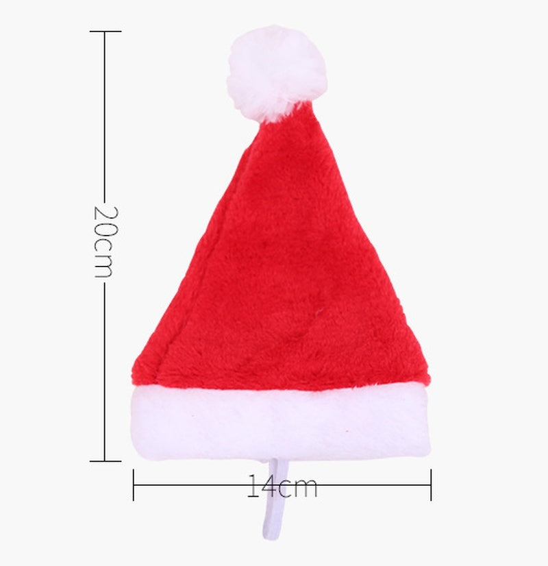 Christmas Pet Hat Santa Claus Hat for Cats Dogs Puppy Xmas Decoration New Year Party Supplies Pet Costume