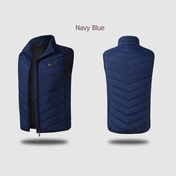 Intelligent Electric Battery Heated Heating Vest Mens Women Winter Warm Up Zipper Sleeveless Jacket Wind Resistant Vests