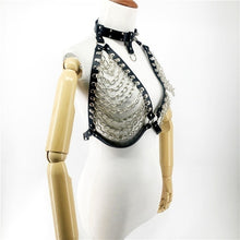 Load image into Gallery viewer, New Bondage Collar Harness Body Women Belts Garters Metallic Leather Top