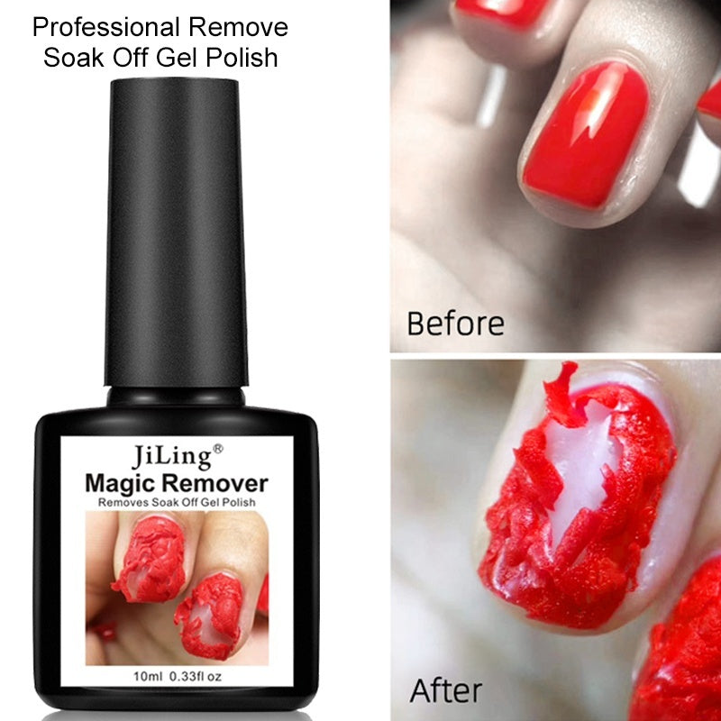 10ml Magic Remover Soak Off Gel Nail Polish Healthy Fast Permanent UV Nail Gel Polish Burst Remover