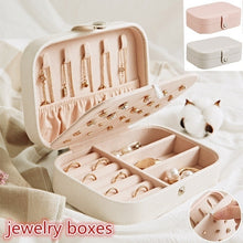 Load image into Gallery viewer, 2 Layers Multi-functional Jewelry Box Organizer Display Jewelry Storage Case for Rings Earrings Necklaces