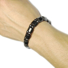 Load image into Gallery viewer, Magnetic Therapy Black Stone Bracelet Health Care Brac