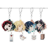 Demon Slayer: Kimetsu No Yaiba Acrylic Keychain Keyring Cosplay Anime Gifts