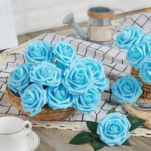 Load image into Gallery viewer, 10Pcs/lot Artificial Flowers Foam Roses with Rod Flower Branch for Wedding Home Decoration Scrapbooking DIY Craft Fake Flowers