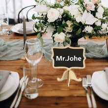 Load image into Gallery viewer, 20/50/100 PC Small Wooden Black Boards Wedding Table Numbers Name Place Wedding Favors Mini Message Blackboard Party Label Table Decor