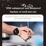 Bluetooth Smart Watch Hommes Pression Art¨¦rielle Ronde Smartwatch Femmes Montre ¨¦tanche Sport Tracker WhatsApp Pour Android Ios