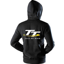 Load image into Gallery viewer, Isle of Man TT Zipper Sweatshirts Motorcycle Locomotive Competition Commemorative Hooded Coat Black S-4XL