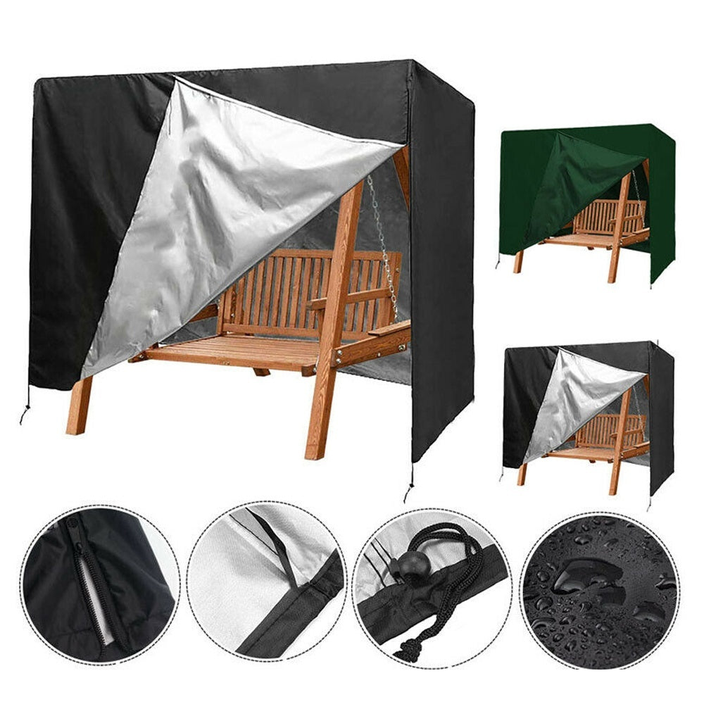 3-Seater Swing Seat Chair Hammock Cover Outdoor Garden Patio Furniture Protector