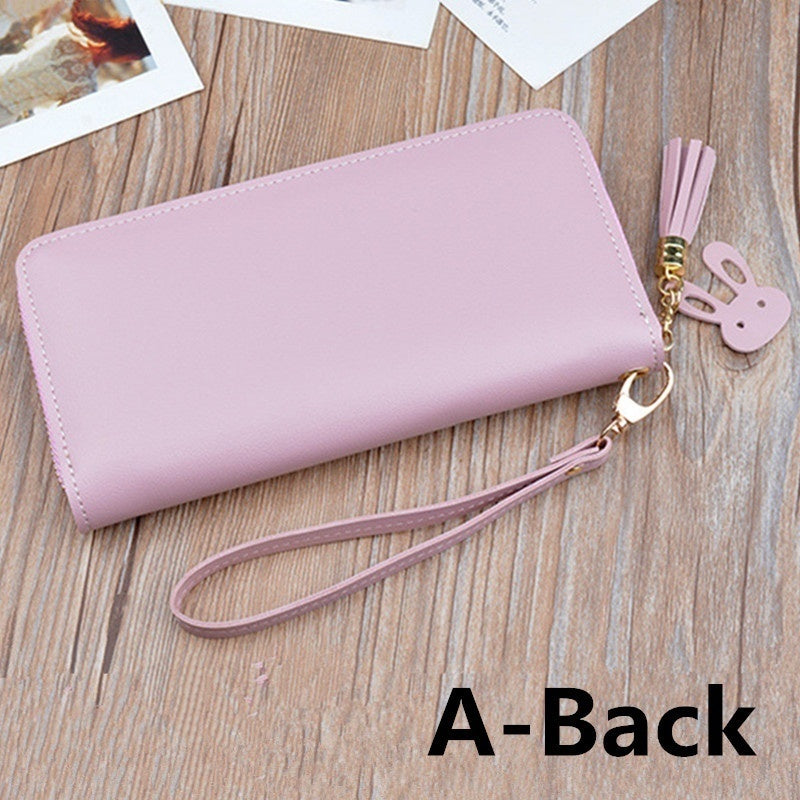 Rfid Wallet Women Leather Wallet Large Capacity Clutch Purse Phone Pocket Coin Purse 1 Pocket Or 2 Pocket For Choose