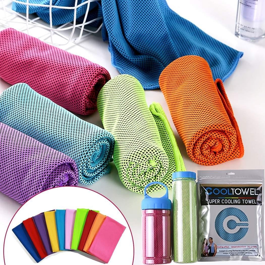 Cooling Towel Soft Absorbent Quick Dry Sports Workout Fitness Gym Towel