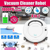 4-in-1 1800PA Strong Suction Automatic Rechargeable Smart Sweeping Robot Sensing Kids Auto Cleaner Robot Intelligent Sweeping Robot Vacuum Cleaner Home