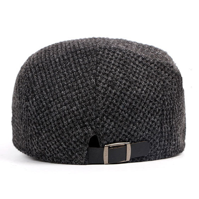 Golden Code Men's Flat Top Hat Beret Grey Newsboy Hat Gatsby Ivy Driving Cap