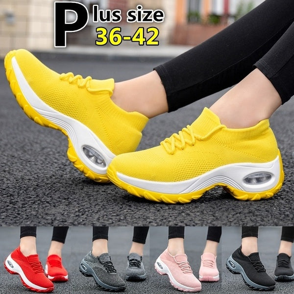 Women Fashion Casual Shoes Lightweight Sneakers Breathable Sport Shoes Outdoor Running Shoes Tennis Shoes Plus Size