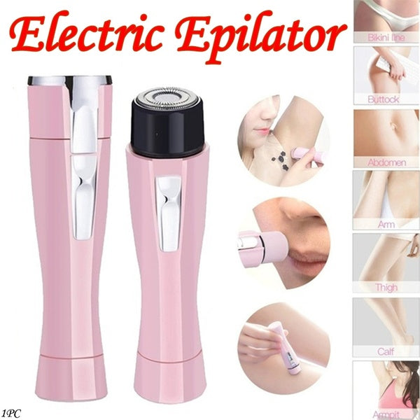Women Mini Electric Facial Hair Remover Shaver Face Care Body Hair Removal Painless Portable Epilators Trimmer Beauty Tools