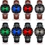 Vintage Classic Men's Waterproof Date Leather Strap Sport Quartz Men's Business Watch