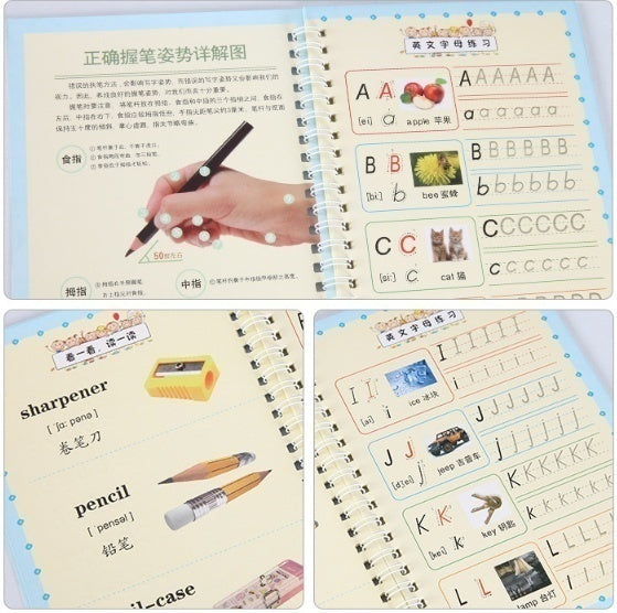 Hi-Lover Magic Writing Paste Children's Kindergarten Grooves Post Before School Hard Pen Writing Board Students