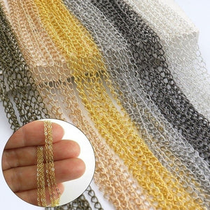 5M Metal Plated Open Link Iron Metal Chain For Jewelry Making