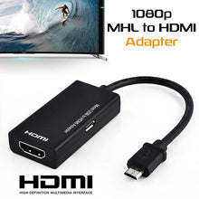 Load image into Gallery viewer, New Micro USB 2.0 To HDMI HDTV TV HD Adapter Cable For Cell Phone Samsung LGL G S7