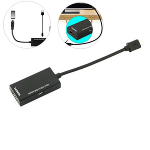 New Micro USB 2.0 To HDMI HDTV TV HD Adapter Cable For Cell Phone Samsung LGL G S7
