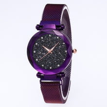 Load image into Gallery viewer, Shiny Sky Quartz Watch Crystal Female Rhinestones Watch Fashion Women Wrist Magnetic Strap Waist watch Watches (1PCS)