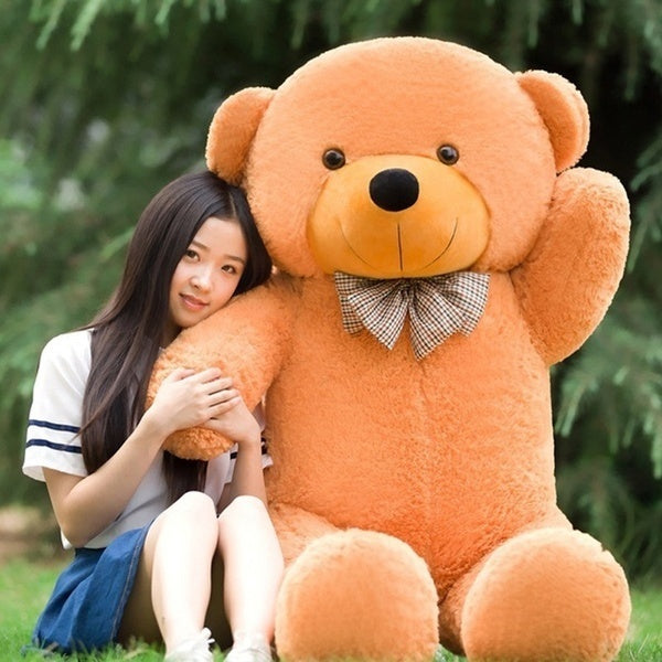 80CM-200CM cute plush soft stuffed animal doll plush toy pillow bed semi-finished doll shell gift Huge super teddy bear plush toy shell