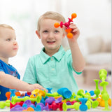 15Pcs/30pcs Silicone Building Blocks Kids Toys Assembled Suction Cup Funny Puzzle Educational Toys