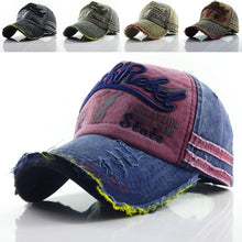 Load image into Gallery viewer, New  Fashion Motors Racing Cap With Good Quality Washed Cotton Cap Outdoor Baseball Cap With Patche Put On Size Adjustable