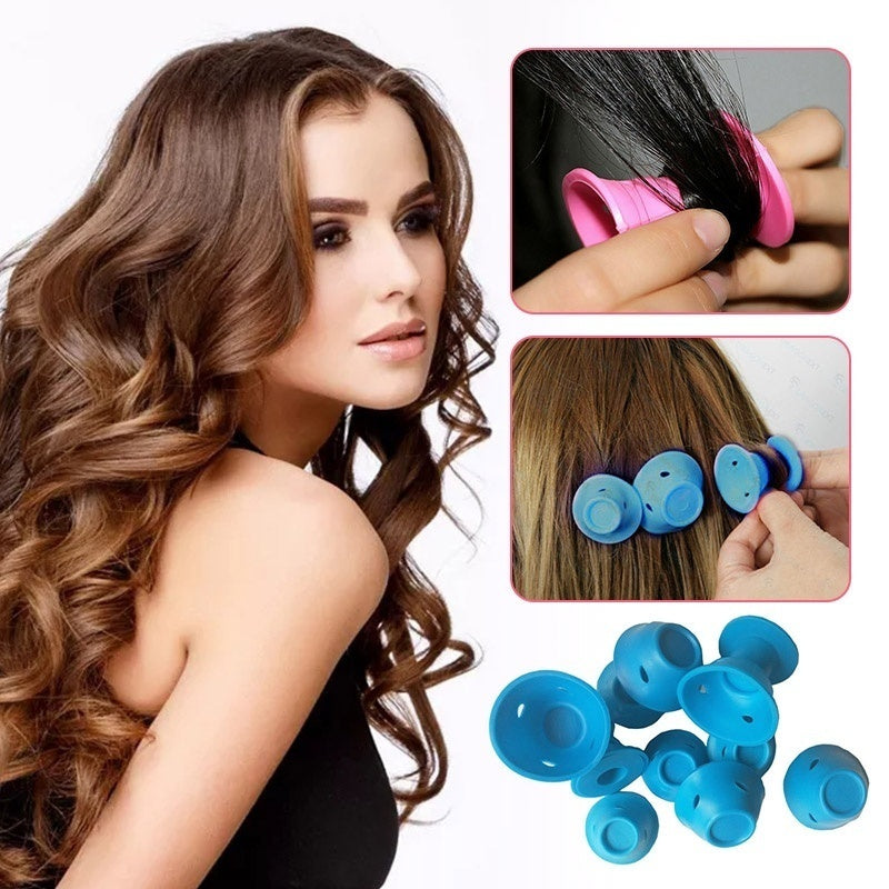 10Pcs/lot  Silicone Hair Curlers Rollers No Clip  Styling Curling DIY Tool